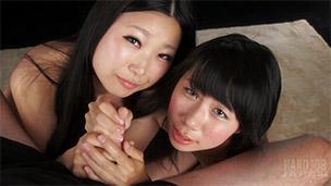 Kaori Miyanaga, Rin Itou Handjob