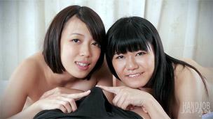 Tsukushi Mamiya, Yukie Sawamoto Handjob