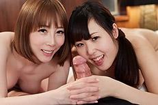 Natsuki Yokoyama, Aya Kisaki Handjob