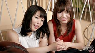 Yui Kawagoe, Shino Aoi Handjob